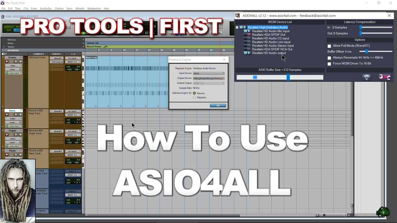 Pro Tools  First  How to use ASIO4ALL AAE 6xxx Error, Interface Errors  YouTube