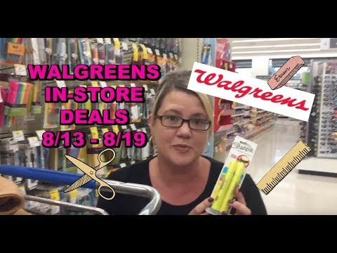 WALGREENS IN-STORE DEALS:  8/13 - 8/19 |...