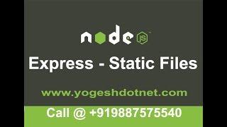 serving static files in express   NodeJS tutorial   Hindi