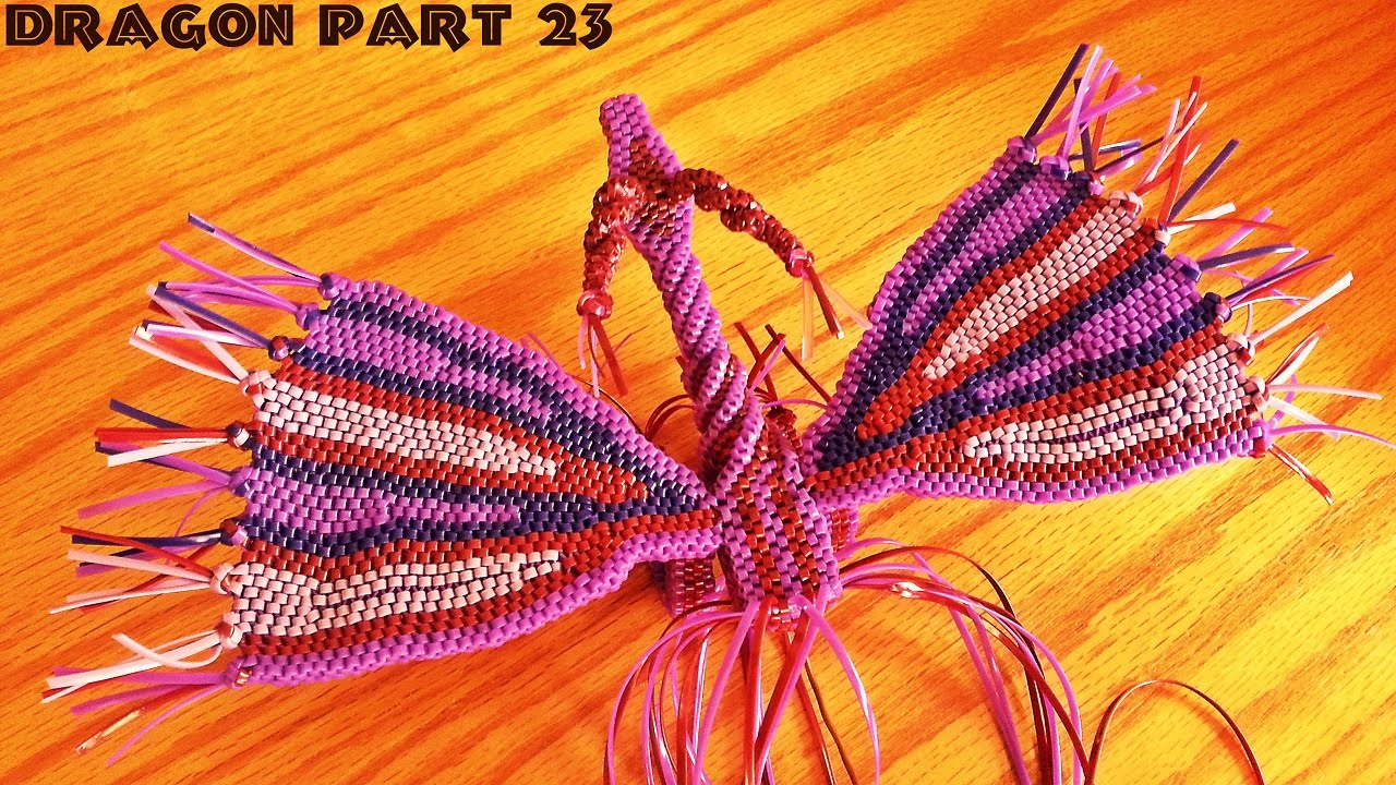 How To Make A Lanyard Dragon Part #23 (continuing The Body #2)