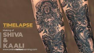 e2bd6ff96 Realism Tattoo Timelapse - Making of Lord Shiva - Goddess Kali Tattoo