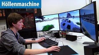 Minecraft mit 2700 FPS auf der Höllenmaschine 7 mit User-Tester Stephan