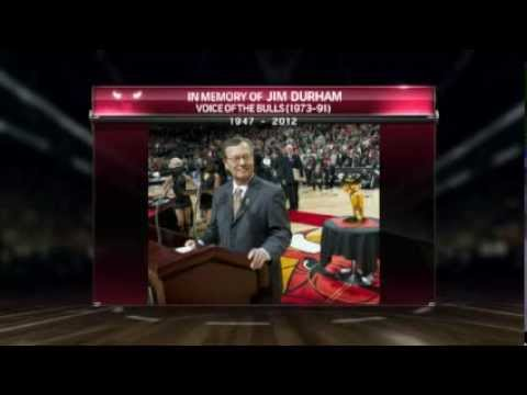 Jim Durham Honorary Video and Moment of Silence at Bulls Game