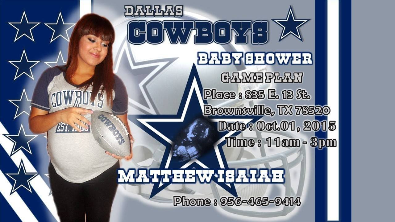 Mary Edith Sanchez Dallas Cowboys Baby Shower YouTube