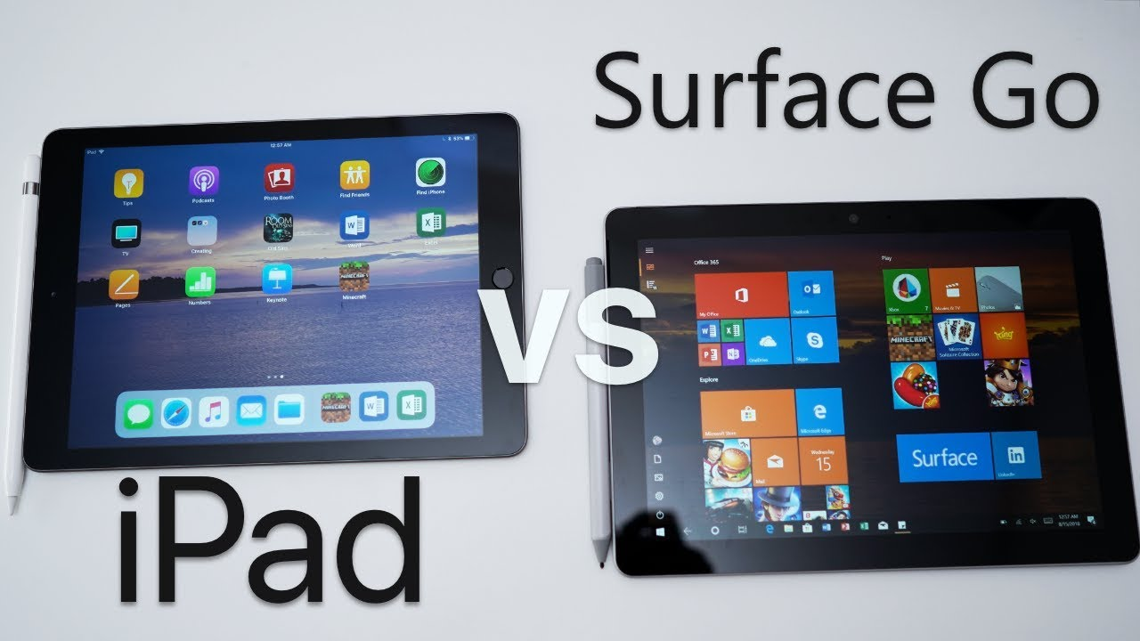 ipad vs surface go which should you choose youtube