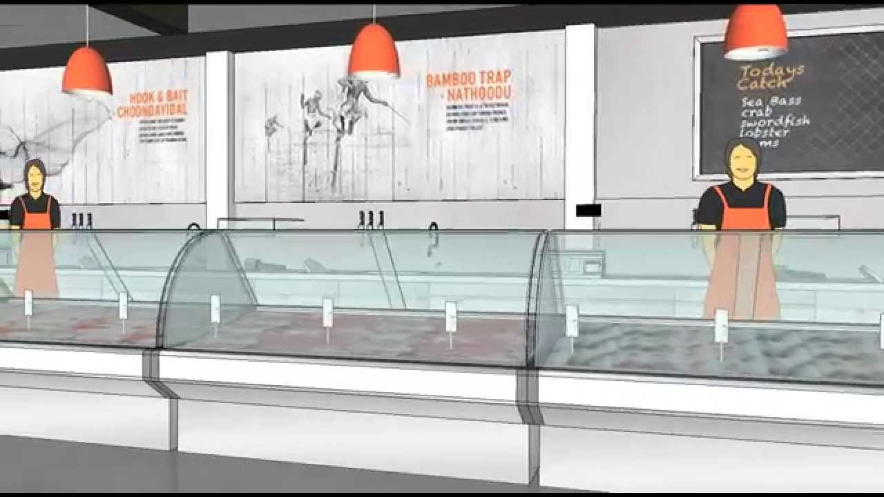 Wild fish store design youtube for Fish market design ideas