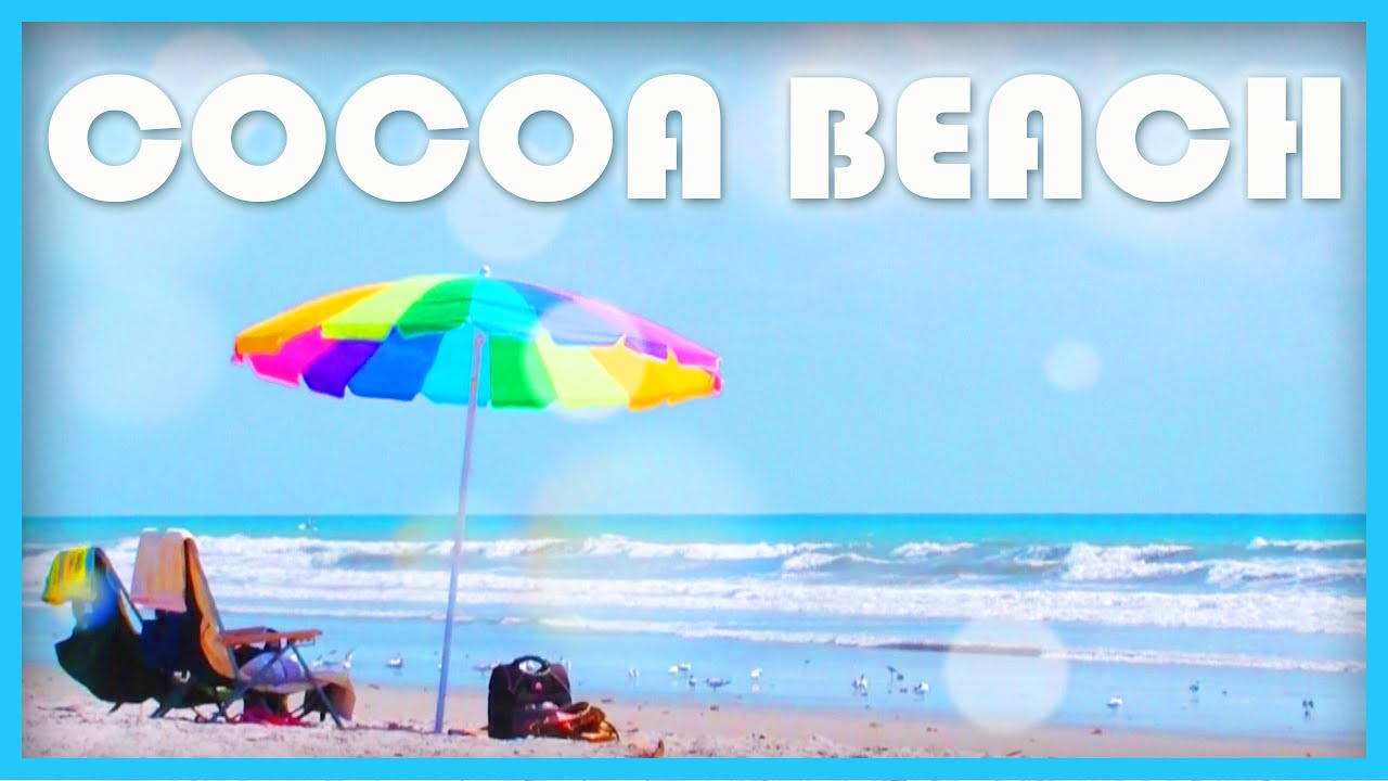 Cocoa Beach Florida Usa Beautiful White Sand
