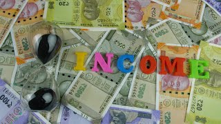 "Moving shot of plastic letters forming the word ""Income"" - business/finance concept"