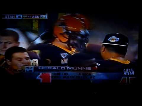 ASU vs. Stanford Gerald Munns interception with a ...