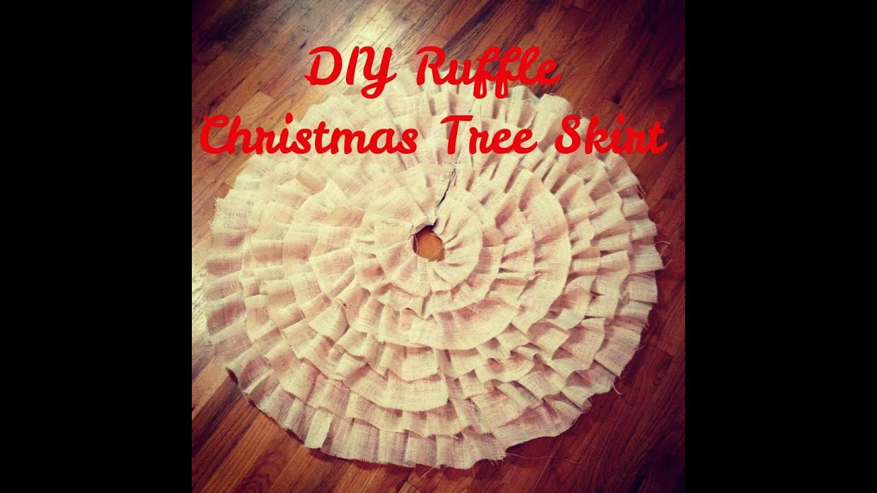 DIY Christmas Tree Ruffle Skirt (NO SEW) - YouTube