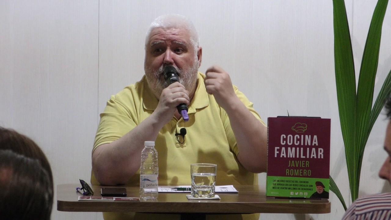 Presentaci n del libro cocina familiar en logro o recetas for Javier romero cocina