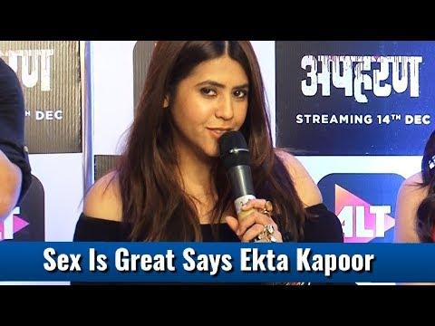 Ekta Kapoor Becomes NAUGHTY At Apharan Webseries Launch