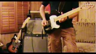 Elvis 'Burning Love' tune with 92 Fender Top Load Tele and Fender Mustang IV modeling amp