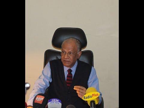 Point de presse du Leader du PTr, Navin Ramgoolam
