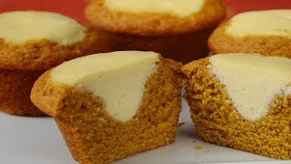 Pumpkin Cream Cheese Muffins Recipe Demonstration - Joyofbaking.com