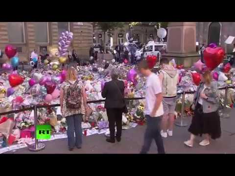 RAW: Floral tributes for victims of Manchester attack