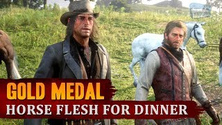 Red Dead Redemption 2 - Mission #37 - Horse Flesh for Dinner [Gold Medal]