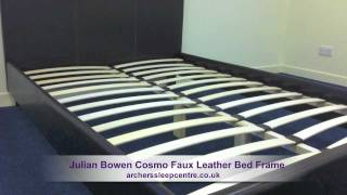 Julian Bowen Cosmo Faux Leather Bed Frame