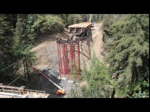Pfeiffer Canyon Bridge Launch - Timelapse (looking north)