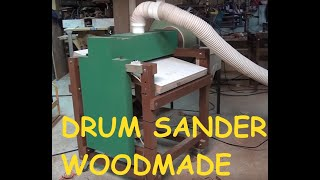 Drum And Disk Sander Homemade - Woodworking Machinery Made Of Wood.