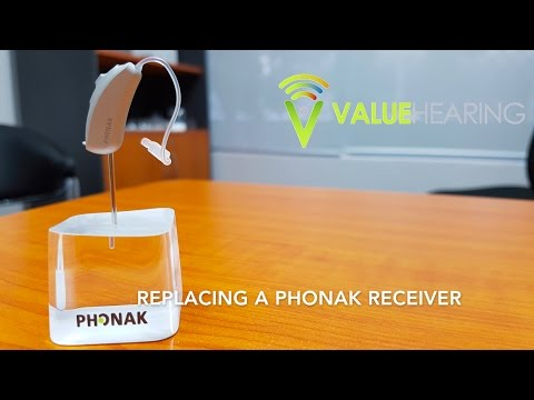 Replacing a Phonak Receiver (Audeo)