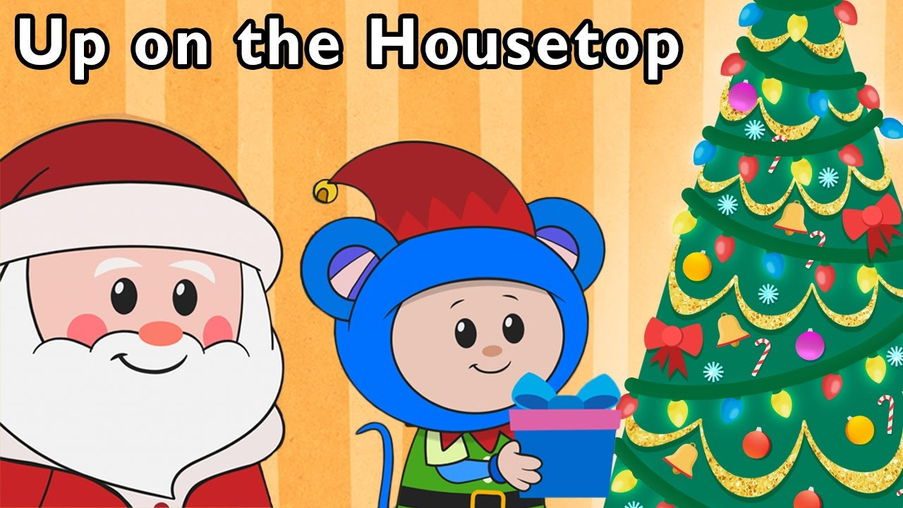 Real Santa Brings Toys | Up on the Housetop + More | Mother Goose Club Phonics Songs - YouTube