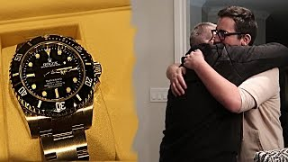16 YEAR OLD BUYS HIS DAD A ROLEX FOR CHRISTMAS!!