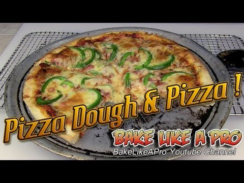 Food Processor Pizza Dough and Pizza Recipe