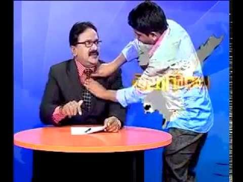 Telugu i news Channel Chief Editor Off Screen