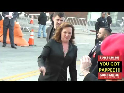 Elizabeth Perkins greets  at The Boss Premiere at Regency Village Theatre in Westwood