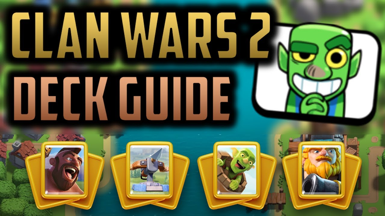 Clan Wars 2 DECK BUILDING GUIDE - How to Build YOUR Four Decks!
