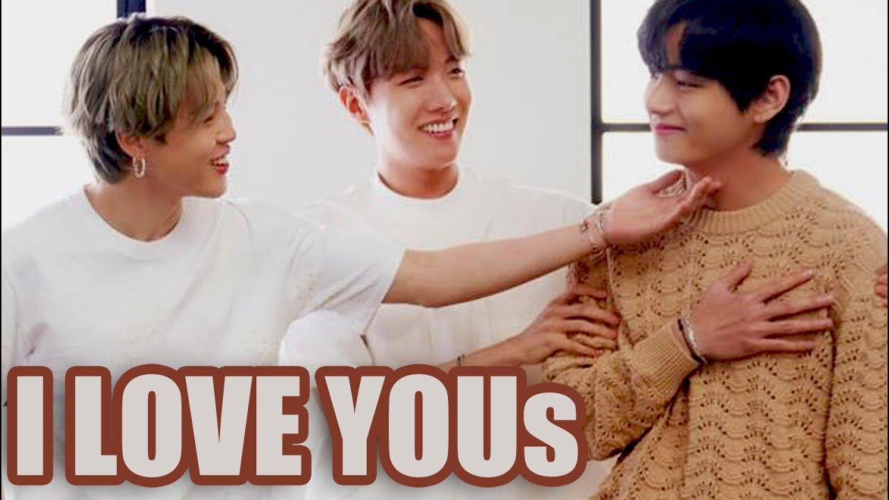 BTS & Kim Taehyung exchanging I LOVE YOUs