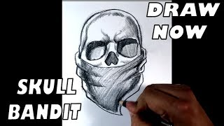 Skull Bandit Design ( Awesome ) - Draw Tattoo Art