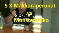 5 X makkaraperunat (n. 2.7 kg) vs monsteriukko