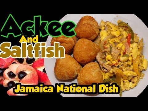 Ackee And Salt Fish Recipe 🐟 Jamaica 🇯🇲 National Dish How To Cook Saltfish