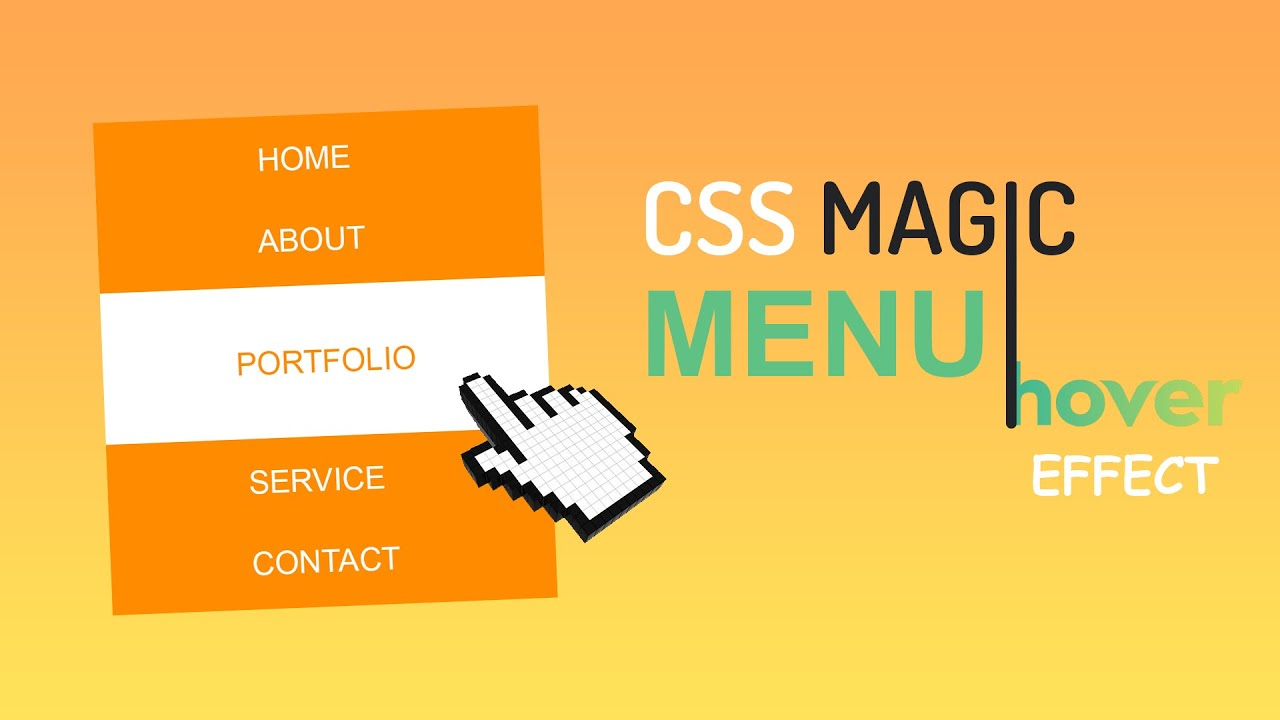 Awesome menu hover effect using only Html & CSS