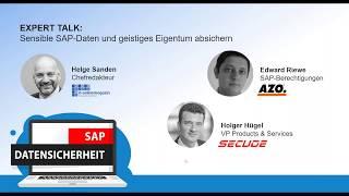 Expert Talk mit AZO | Sensible SAP-Daten und geistiges Eigentum gegen Insider-Angriffe absichern