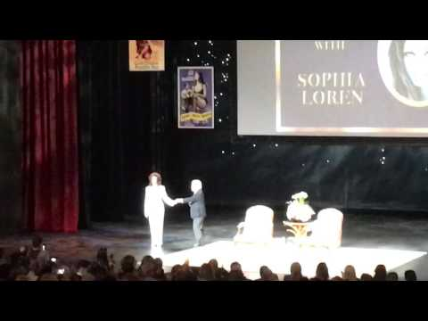 2016 An Evening With Sophia Loren tour. Sophia takes the stage