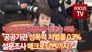"""[포커스TV] 정춘숙 의원 """"공공기관 성폭력 …"""