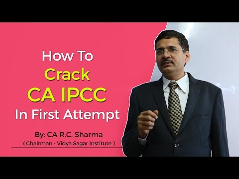 How to Clear CA IPCC in First Attempt by CA R. C. Sharma (in Hindi)