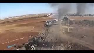 Уничтоженный Турецкий конвой в Сирии после удара ВКС РФ! Новости России