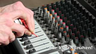 Behringer PMP3000, Xenyx 2442FX/USB how to clean channel fader, tutorial