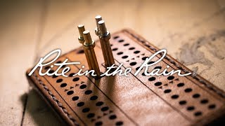 "Leathercraft Made Easy with ""Together Made"" +  ""Rite in the Rain"" Journal Kits"