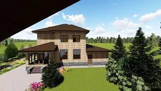 Проектирование каменного дома и деревянной бани на одном участке