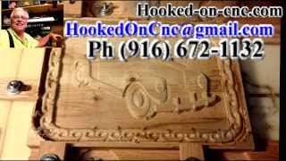 For Sale 3d Wood Carving-1940 Plymouth Convertible