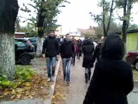 Protest in Liceul Traian Vuia din Craiova