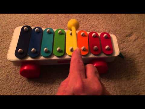 How to play Star Wars Fisher Price xylophone