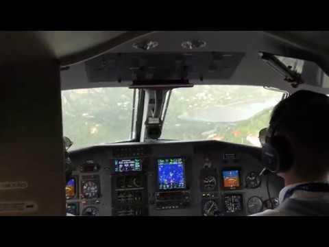 Tradewind Aviation Pilatus PC-12/45 landing at Saint-Barthelemy