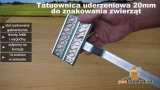 Tatuownica uderzeniowa 20mm do znakowania zwierząt krów, świń w gospodarstwie www.panfarmerek.pl