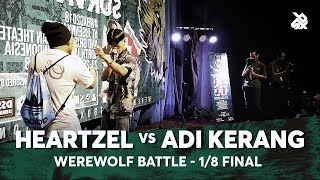 HEARTZEL vs ADI KERANG | Werewolf Beatbox Championship 2018 | 1/8 Final
